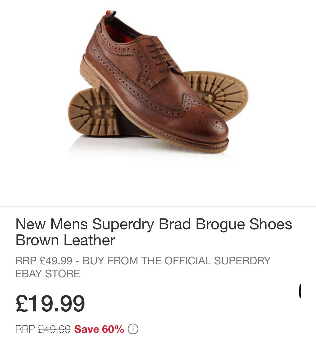 Superdry Brad brogues Brown £19.99  (ebay Superdry)