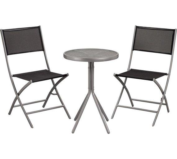 Kara 2 Seater Garden Bistro Set - Black £34.99 @ Argos