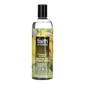 Faith in Nature Pineapple and Lime shower gel, hand wash and soap half price, plus included in penny sale in Holland and Barret