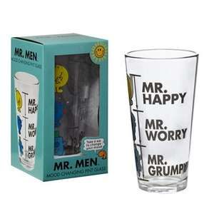 Mr Men novelty pint glass £1.60 @ Debenhams