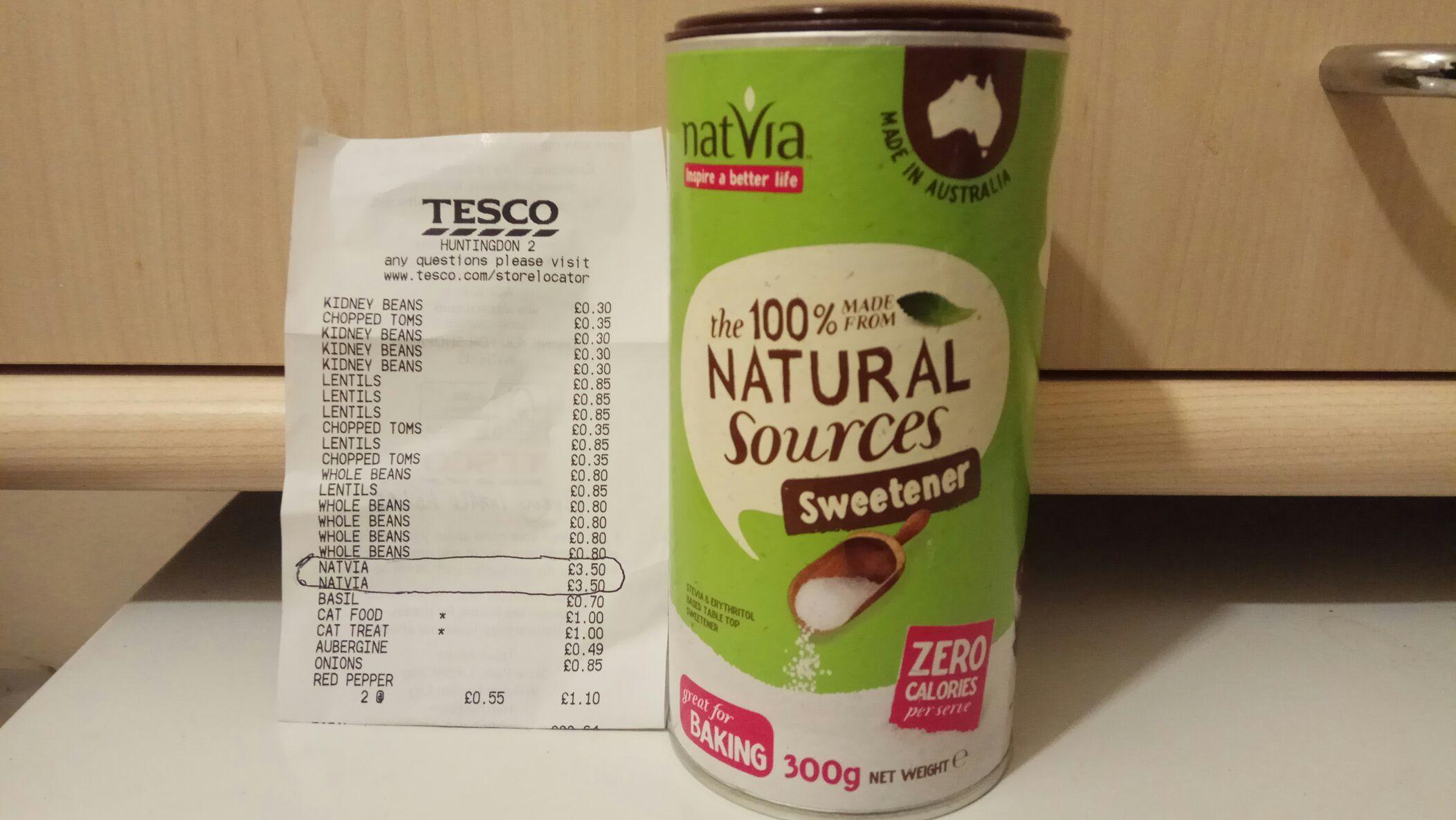 Natvia - Stevia Sweetner 300g - £3.50 instore @ Tesco