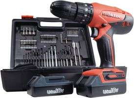 MAKTEC BY MAKITA  MT081X100  18V Cordless Combi Drill Driver with 2 x 1.5Ah Batteries & Kit Box - £79.98 @ CPC