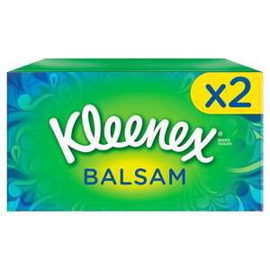 Kleenex Balsam Tissues Regular Twinpack 72S £2 @ Tesco