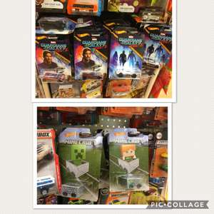 Guardians of the galaxy volume II & minecraft hotwheels £1 at poundland