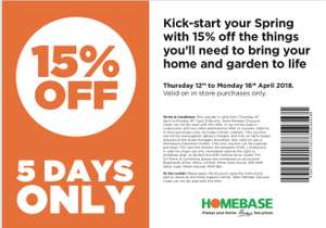 Exclusive friends and family discount voucher @ Homebase