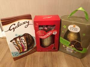Large Easter Eggs - 75% off from today - McColls