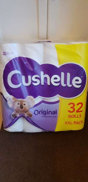 32 rolls of cushelle toilet paper for £5 instore @ Iceland