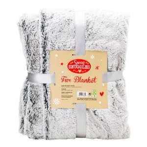 Superdrug Sweet Snuggles Faux Fur Blanket Crushed Grey now £4.99, was £30 - Free C&C