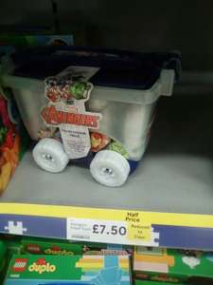 Avengers stickers filled truck - storage box £7.50 was £15 @ Tesco instore (Bidston)