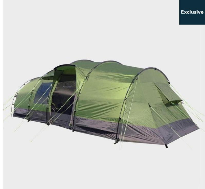 EUROHIKE Buckingham Elite 8 Man Family Tent - £239.60 (with code) @ Blacks