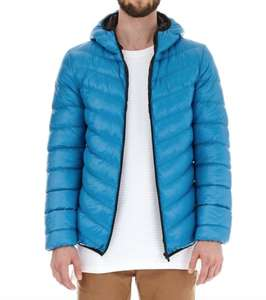 Burton - Deep blue glacier quilted hooded jacket for £15 at Debenhams