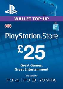 £25 Playstation Store wallet top up for £21.69 from MMOGA.