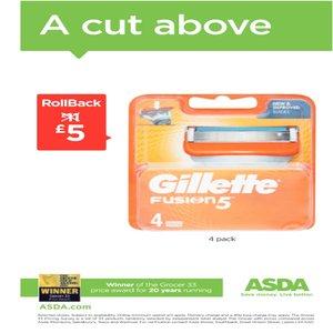 Gillette Fusion Razor Blades 4 Pack - £5 @ Asda (online and instore)
