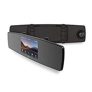 """YI Mirror Dash Cam 1080P Dual-Recording and Wi-Fi In Car Camera 4.3"""" Wide Touchscreen £48.99 Sold by YI Official Store UK and Fulfilled by Amazon - lightning deal"""