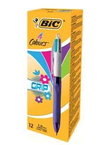 Bic 4 Colours Grip Fashion Ballpoint Pen - 12 Pack £8.25 Ebuyer (£2.98 c&c)