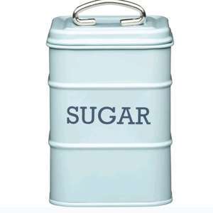 KITCHEN CRAFT Living Nostalgia Vintage Sugar Tin - Blue £2.16 @ Curry's Ebay Outlet