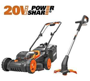 WORX Cordless Lawnmower and Trimmer - Twin Pack £169.99 Argos