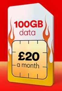 100GB 4G Data - 5000 Minutes - Unlimited Text - 12 Months Sim - £20 Month (£240 for 12 month) @ Virgin Mobile