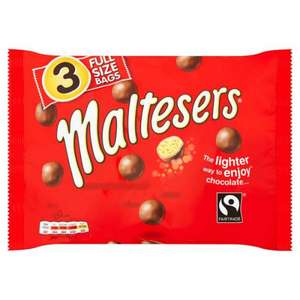 MALTESERS CHOCOLATE 3 PACK 3 FULL SIZE £1 @ POUNDSTRETCHER