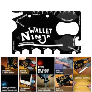 18-in-1 Wallet Ninja Multi Tool - Just 58p delivered from Zapals!