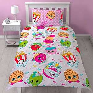 Shopkins Reversible Jumble Single Duvet Cover Set (was £22) Now £9.00 Click & Collect @ Very