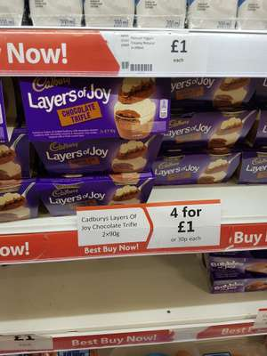 Cadburys layers of joy trifle 4 for £1 @ Heron
