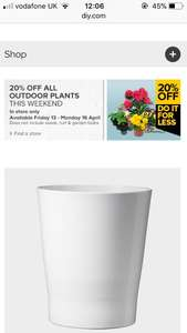 B&Q 20% off outdoor plants instore only 13-16 April