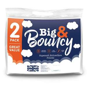 BIG & BOUNCY PILLOWS 2 PACK £3.49 @ Poundstretcher