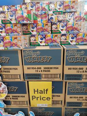 Kelloggs Variety mini multi cereals 8 pack only £1.02 instore / online @ tesco