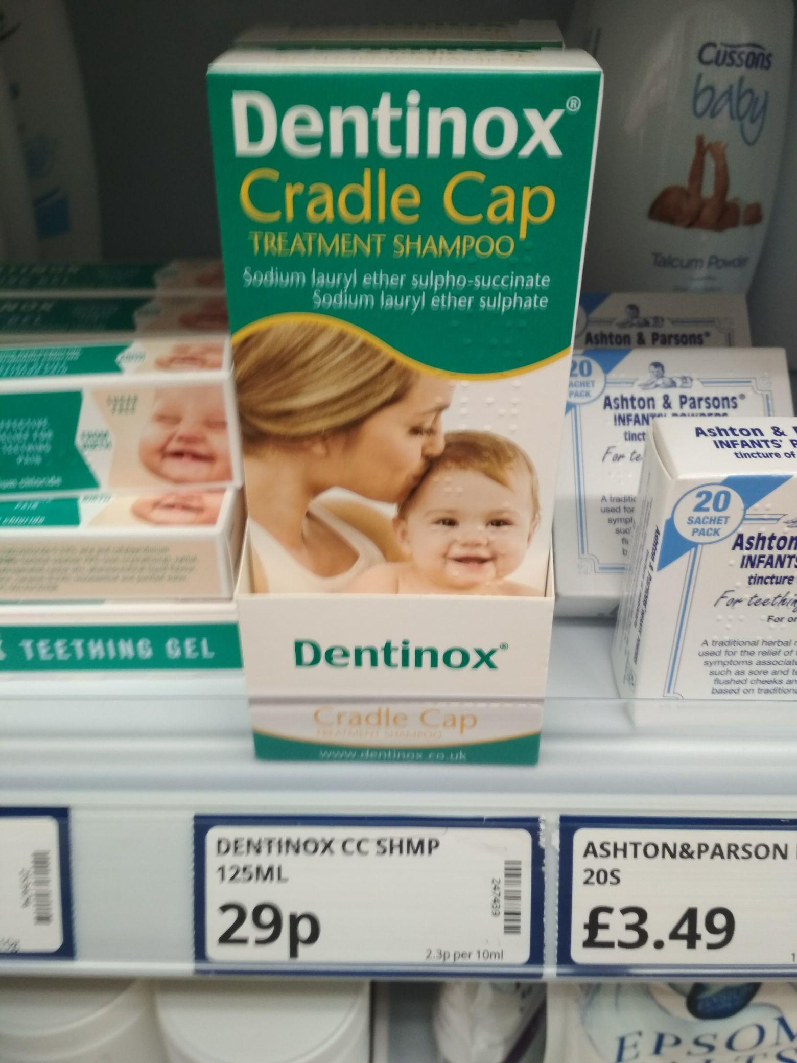 Dentinox cradle cap shampoo 29p @ poundstretcher folkestone