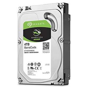 Seagate 4 TB BarraCuda 3.5 Inch 5400 RPM Internal Hard Drive, £82.22 delivered from amazon.fr