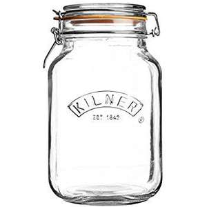 Kilner 2L clip top, square base jar: £3.60 Amazon Add On