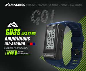 Makibes G03S GPS Smart Watch with Heart Rate Monitor / Calories / Sleep Monitor £21.13 w/code @ Geek buying