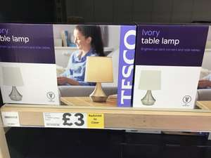 Pair of Ivory table lamps £3 in Tesco