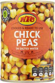 KTC Chick Peas, Red Kidney Beans and Chopped Tomatoes 400g  4 cans for £1 , mix n match @ asda (instore & online)