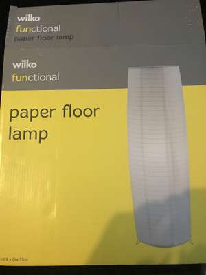 Wilko paper floor lamp £2