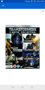 TRANSFORMERS: 5-MOVIE COLLECTION - 4K ULTRA HD (BONUS DISC) BLU-RAY £33.99 @ Zavvi