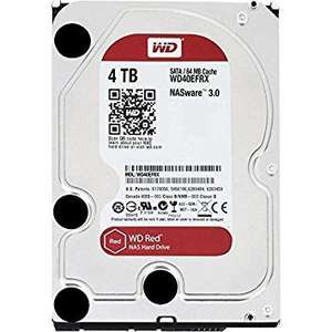 Western Digital 4TB Intellipower SATA 6Gb/s 64 MB Cache 3.5-Inch NAS Desktop Hard Disk Drive - Red (WD40EFRX)  £105.56 @ Amazon
