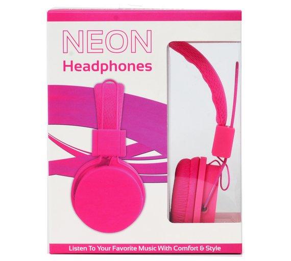 Vivitar Neon Headphones - Pink £3.99 @ Argos