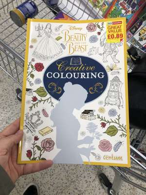 Disney Beauty & The Beast colouring book. 89p @ Home Bargain