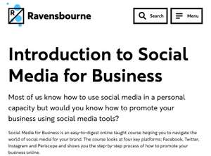 FREE Introduction to 'Social Media for Business' Online Course by Ravensbourne