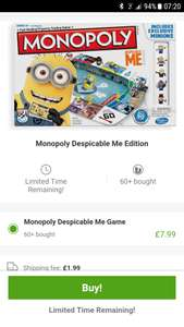 Despicable me / Minion Monopoly £7.99 + £1.99 delivery @ Groupon