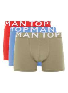 Topman Online deal Assorted Colour Trunks 3 Pack xxs/xs £7.50 (free c&c)