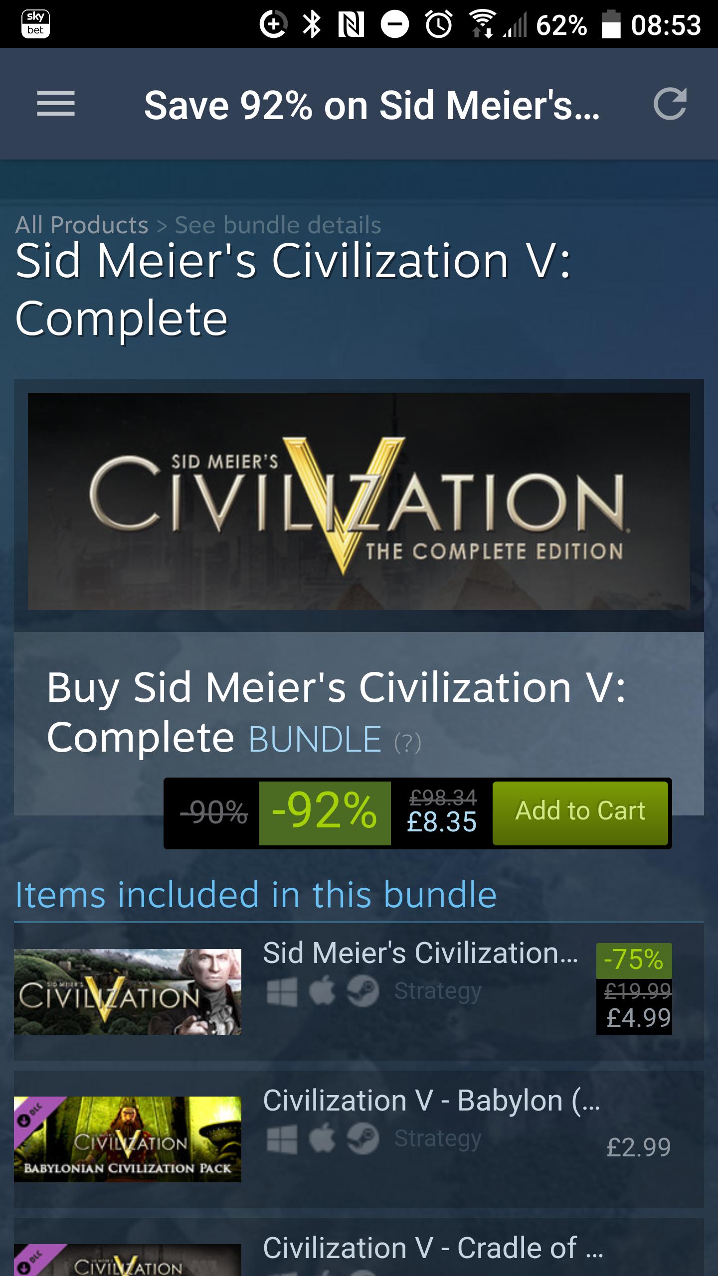 Civilization 5 - Complete Edition £8.35 *Steam Store*