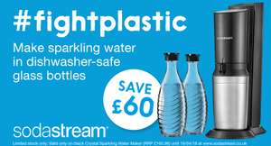 SodaStream Crystal Sparkling Water Maker with extra carafe only £99.99 @ sodastream