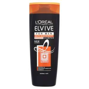 L'Oreal Elvive Men Anti Dandruff Normal Hair Shampoo 400ml £2.24 @ Boots