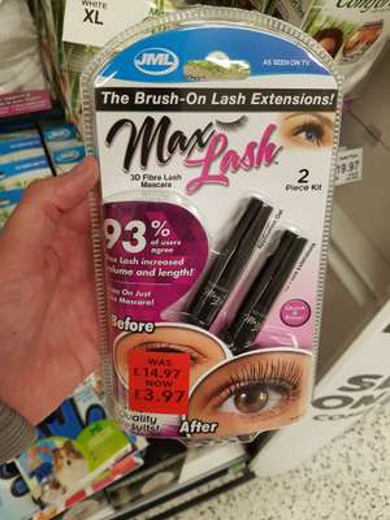 JML max lash mascara £3.97 at Asda instore