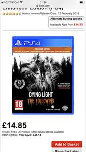 Dying Light Enhanced Edition PS4 £14.95 @ Base