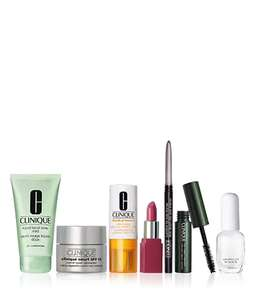Clinique Travel Essentials Collection (worth £63) for only £10, when you spend £30 + Free Sample + Free Delivery @Clinique (more offers in OP)