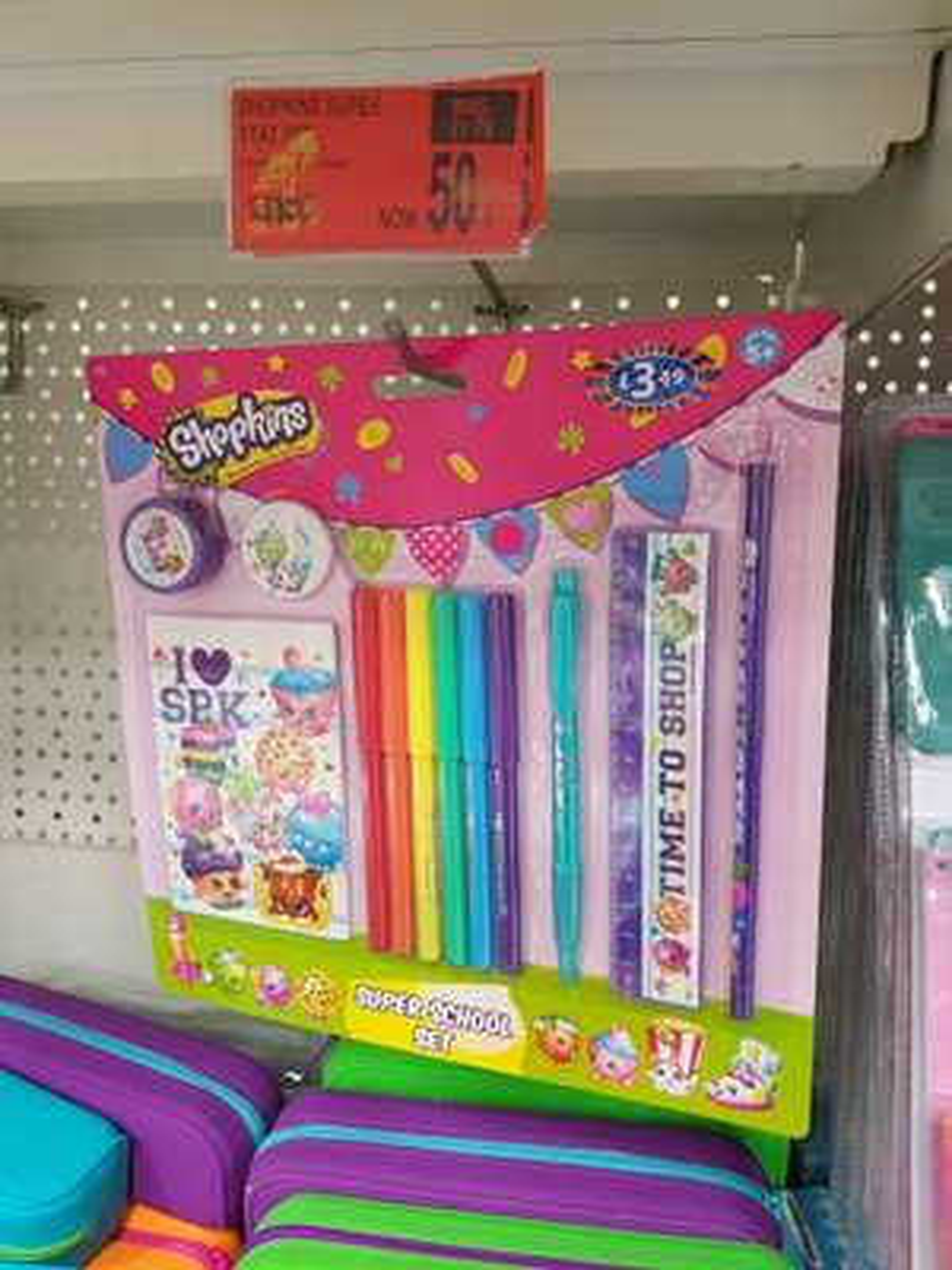 Shopkins super stationery set 50p @ B&M